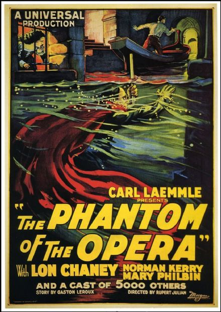 The Phantom of the Opera. Vintage Film/Movie Print/Poster. Sizes: A4/A3/A2/A1 (0086)